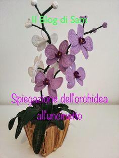 Spiegazione dell'orchidea all'uncinetto