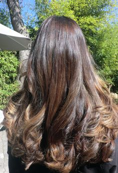 dark brown hair with caramel highlights | Chocolate Brunette with Ash Blonde Highlights | Neil George