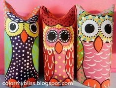 Color My Bliss: Hoot Hoot! Toilet Paper Roll Owls! #DIY