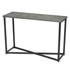 Bring a modern style to your living space with the Household Essentials Faux Concrete Slate Console Table. This table features an open storage design paired with steel and lightweight faux concrete shelving. Console Table, Narrow Table, Storage Design, My New Room, Stores, Living Room Furniture, Loft Furniture, Furniture Design, Wooden Furniture