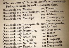 6. What are some of the words usually mispronounced?