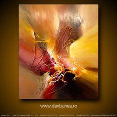 """Gran cuadro abstracto por Dan Bunea: """"VENIR DE CASA"""", 100x120cm o 40x48in, acrílicos sobre lienzo, a la venta"""