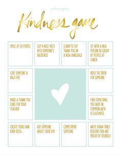 "The ""Kindness Game"" Activity | Edutopia"