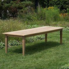 Reclaimed Teak Dining Table, 10' from Terrain. Outdoor entertaining