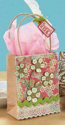 Moxie Fab World: Cards & Gifts Week Day Gifts of Inspiration Craft Bags, Craft Gifts, Diy Gifts, Handmade Gifts, Creative Gift Wrapping, Creative Gifts, Homemade Gift Bags, Decorated Gift Bags, Homemade Anniversary Gifts