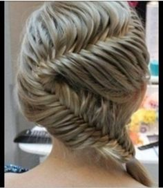 so hard but so cute.....it takes a long time too... but if u know how to fishtail braid it will be easy for you:)