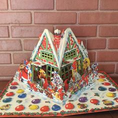 Vintage Christmas Santa Pop Up 3D Advent Calendar E.O & Co. Made in Sweden #EOCo #PopUp