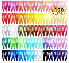 Ladies Girls Womens Fancy Dress Neon Colour 6 Pair Pack Hair Snap Clips 5cm