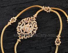 Jewellery Designs: Chain with Diamond Motif