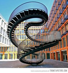 Infinite Staircase by Olafur Eliasson makes my eyes fuzzy if i stair at it to much.but cool staircase if it was leading to my balcony