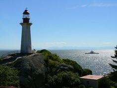 Lighthouse Park in West Vancouver features rugged West Coast terrain and trails, great views and, of course, a lighthouse. Picnic Spot, Great View, Cn Tower, West Coast, Lighthouse, Vancouver, Wander, To Go, Hiking