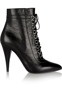 Shop on-sale Saint Laurent Fetish textured-leather ankle boots. Browse other discount designer Boots & more on The Most Fashionable Fashion Outlet, THE OUTNET.COM