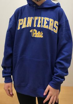 Champion Pitt Panthers Mens Blue Arch Mascot Long Sleeve Hoodie - 14753936 Pitt Panthers, Hooded Sweatshirts, Hoodies, Pittsburgh Pirates, Champion, Arch, Long Sleeve, Sleeves, T Shirt