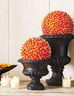 candy corn ball halloween diy decor