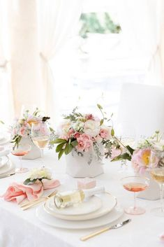 Fashionable Hostess Valentine's Day Entertaining Tips Pink Floral Tablescape