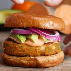 Sweet Potato & White Bean Burgers Recipe by Tasty