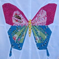 "Butterfly 12"" Paper Pieced Pattern for sale by the Tartan Kiwi - the BIG butterfly -- see it used in the modern quilt at https://www.pinterest.com/pin/38702878024470243/"