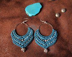 Ethnic macrame earrings