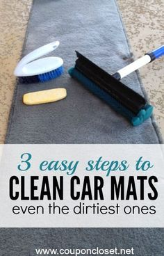 How to Clean Car Mats- the easiest way to get even the nastiest mats clean. The best part - it is cheap too!