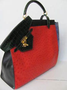 HERMES ALLIGATOR AND OSTRICH HANDBAG OUTRAGEOUS AND UNUSUAL HANDBAGS