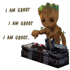Baby Groot Death Button - My favorite part of the movie