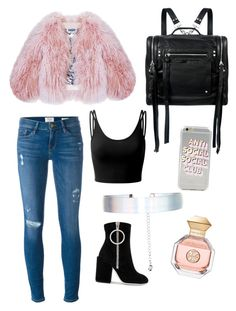 """""""I shut my eyes and scrolled and them picked an item randomly and it turned out amazing . I'm in love with this outfit"""" by princessrina23 on Polyvore featuring Doublju, Florence Bridge, Frame, Off-White, McQ by Alexander McQueen, Accessorize and Tory Burch"""