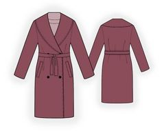 Coat With Shawl Collar - Sewing Pattern #4007