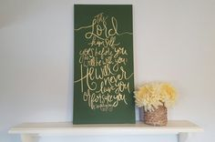 Deuteronomy Christian Wall Art Bible Verse Olive And Gold Quote