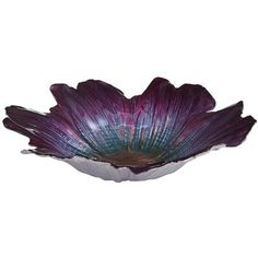 Luster Flower Serving Bowl - Violet from Pier 1 imports. Saved to My Wishlist. Shop more products from Pier 1 imports on Wanelo. Purple Bowls, Purple Glass, Glass Centerpieces, Vases Decor, Purple Home Decor, Dinner Party Table, Flower Bowl, Ceramic Flowers, Ceramic Pots