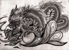 Chinese Dragon by xXkollyXx on DeviantArt Dragon Tattoo Sketch, Black Dragon, Chinese Dragon, Legendary Creature, Deviantart, Art, Dragon Tattoo, Tattoo Sketches, Dragon