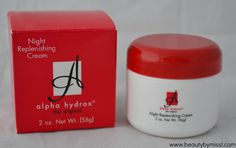 Alpha Hydrox Night Replenishing Cream #review via @beautybymissl #iherb #beauty @Coleen Goree' Inc