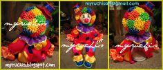 Fiesta Infantil, Fiesta Circo, Ideas Fiesta Circo, decoración fiesta circo, dulceros payasos, Fiesta Payasos sweetmyruchis.blogspot.com