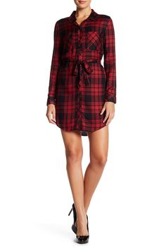 Jordane Plaid Shirt Dress by Sanctuary on @nordstrom_rack
