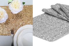 $9.99 sequin table runners. Add these fabulous sequin runners to your tables and entertain with style! Great for the holiday parties, baby and bridal showers, weddings, or everyday home decor!