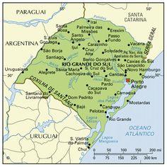 Mapa do Rio Grande do Sul