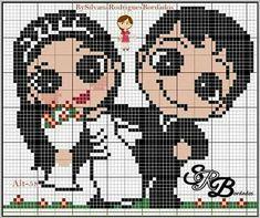 Hama Beads Patterns, Loom Patterns, Baby Knitting Patterns, Beading Patterns, Embroidery Patterns, Cross Stitch Patterns, Pixel Crochet Blanket, Crochet Chart, Cross Stitching