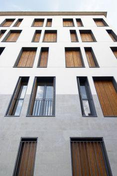 facade concrete wood