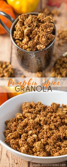 perfect base recipe for Pumpkin Spice Granola. Ready for whatever add ins you want, but also delicious on its own!Your perfect base recipe for Pumpkin Spice Granola. Ready for whatever add ins you want, but also delicious on its own! Pumpkin Recipes, Fall Recipes, Quick Recipes, Amazing Recipes, Delicious Recipes, Snacks Saludables, Tasty, Yummy Food, Fall Baking