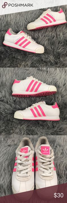 Adidas Samoa Pink and White Sneakers Great preowned condition. adidas Shoes Sneakers