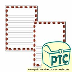 Super Bowl Resources - Primary Treasure Chest Teaching Activities, Teaching Resources, Teaching Ideas, Ourselves Topic, Crafts For Kids, Arts And Crafts, Page Borders, Pre Kindergarten, Letter Sounds