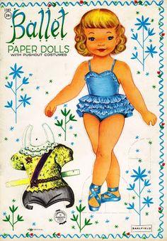 (⑅ ॣ•͈ᴗ•͈ ॣ)♡                                                             ✄Sharon's Sunlit Memories: More Little Ballerina Paper Dolls (Saalfield)