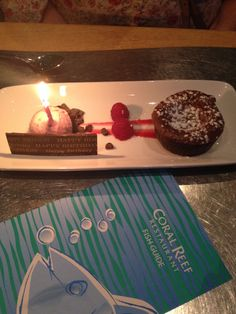 The Chocolate Wave as a birthday dessert from Coral Reef.