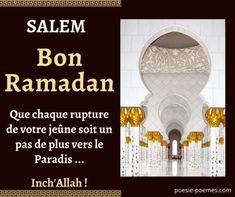 Messages pour le Ramadan : Bon Ramadan et sms rupture du jeune Sms Ramadan, Ramadan Messages, Ramadan Images, Mubarak Ramadan, Hadith, Eid, Religion, Muslim, Happy New Year