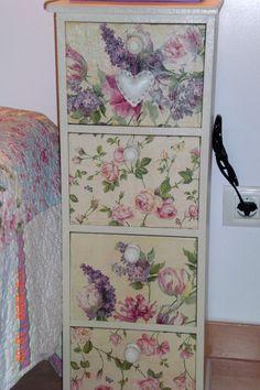 Decoupaged bedside table