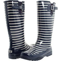 Sperry Top-Sider Pelican Boot in Navy Stripe Cute Rain Boots, Shoes Too Big, Stylish Eve, Sperry Top Sider, Navy Stripes, Beautiful Shoes, New Shoes, Sperrys, Fashion Boots