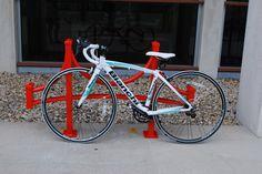 Custom Madrax bridge bike rack!