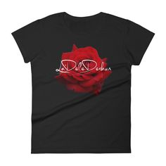 Women's Signature Rose short sleeve t-shirt Rose, Sleeve, Mens Tops, How To Make, Cotton, T Shirt, Collection, Fashion, Manga