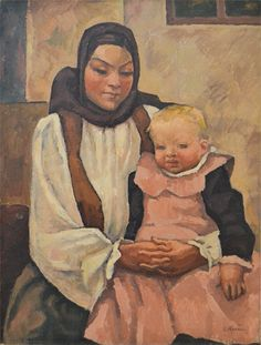 Camil Ressu - Maternitate Mother And Child, Images, Culture, Fine Art, Children, Artist, Kind, Paintings, Photos