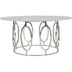 Worlds Away Caleb Nickel Coffee Table White Marble (€2.260) ❤ liked on Polyvore featuring home, furniture, tables, accent tables, worlds away furniture, worlds away table, oval table, white marble table and oval coffee table