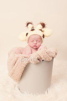 Giraffe Baby Hat Newborn/Baby Photo Prop. $38.00, via Etsy.